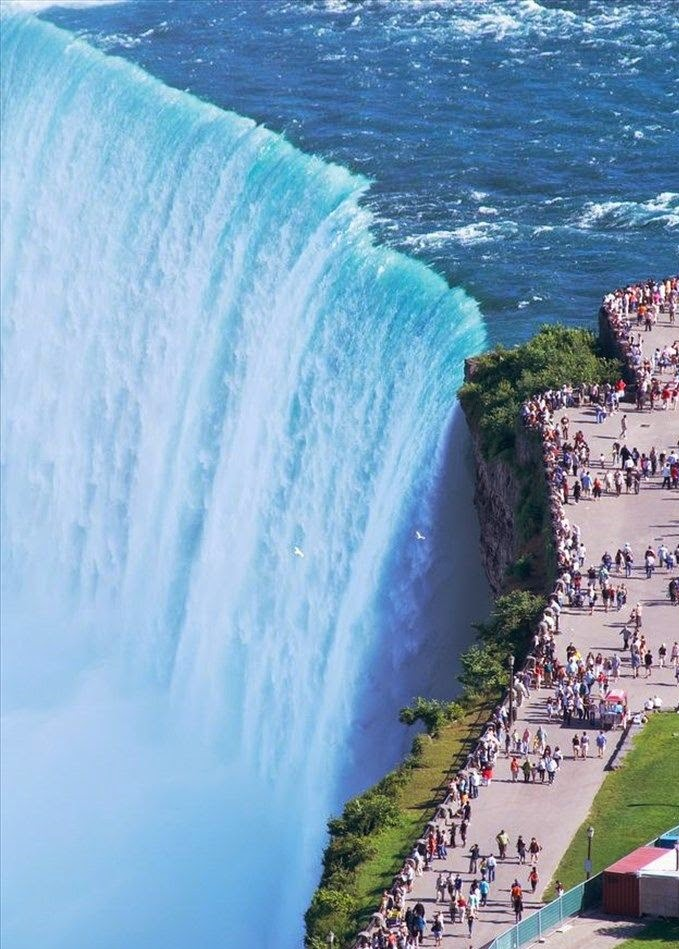 Niagara Falls, Border of Ontario, Canada & New York, United States.