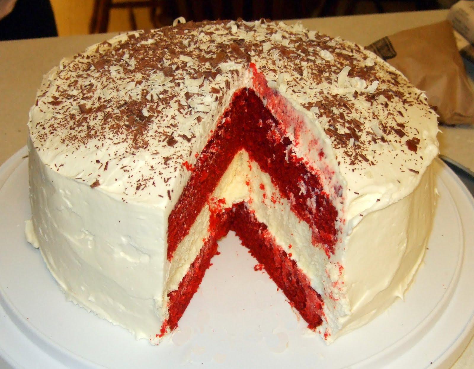 The Fork and Dagger: Red Velvet Cheesecake Cake!