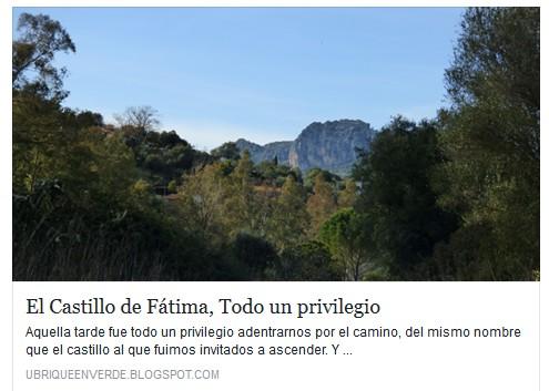 El Castillo de Fátima, por Manolo Cabello