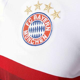 gamabr detail jersey musim depan berita jersey di enkosa sport Detail Lambang jersey Bayern Munchen away Official terbaru musim depan 2015/2016