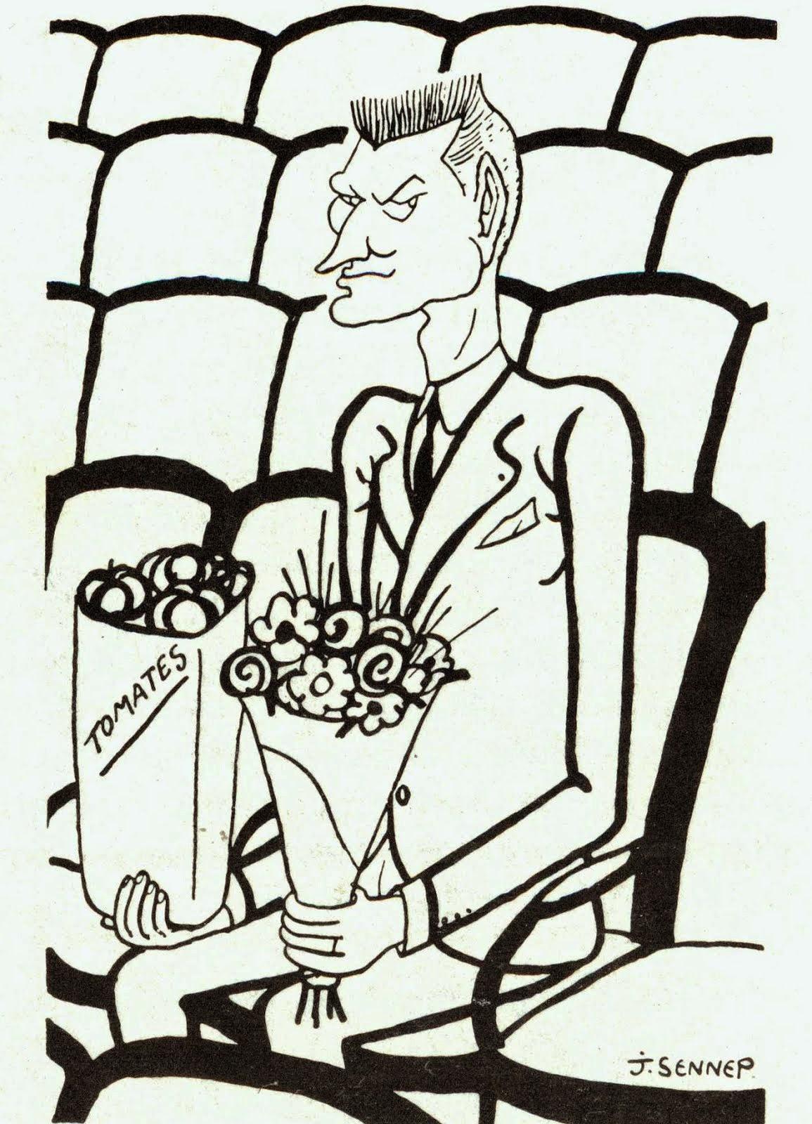 Jean-Jacques Gautier, caricatura de Sennep