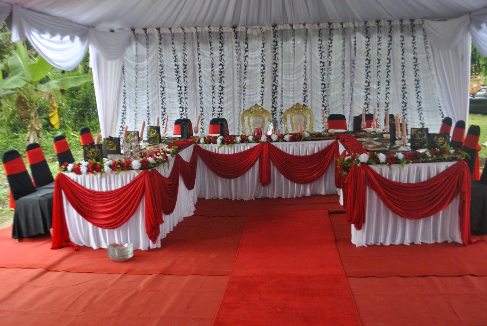 model hiasan meja pengantin