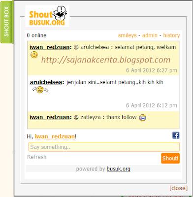 "Jenis ""Slide"", disorokkan kat sebelah kanan blog."