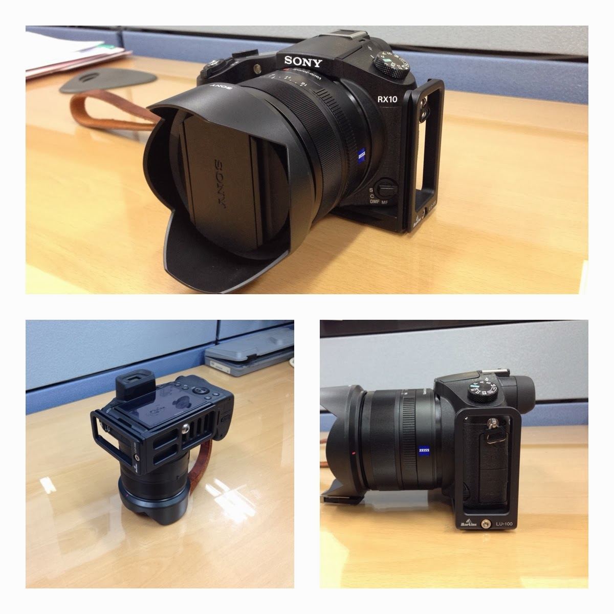 chance to put the markins lu 100 l plate on a new sony rx 10 camera