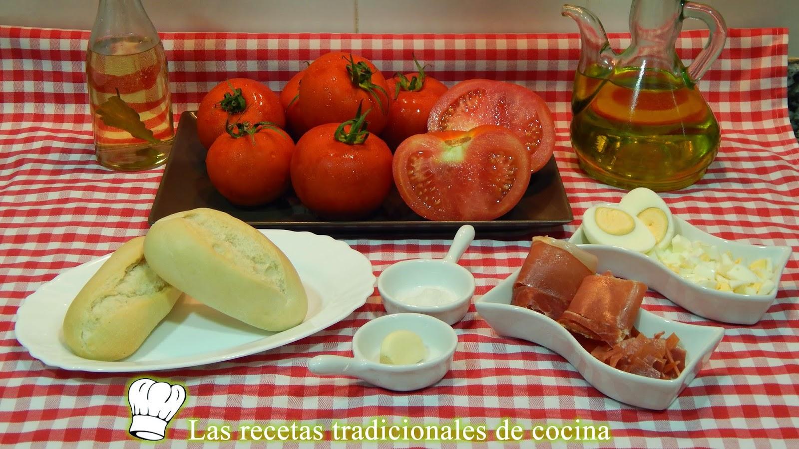 Receta de la Porra antequera o gazpacho de tomates
