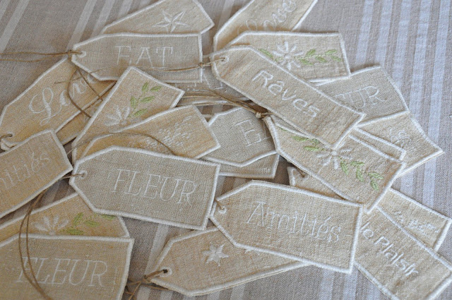 tags,étiquettes en chanvre