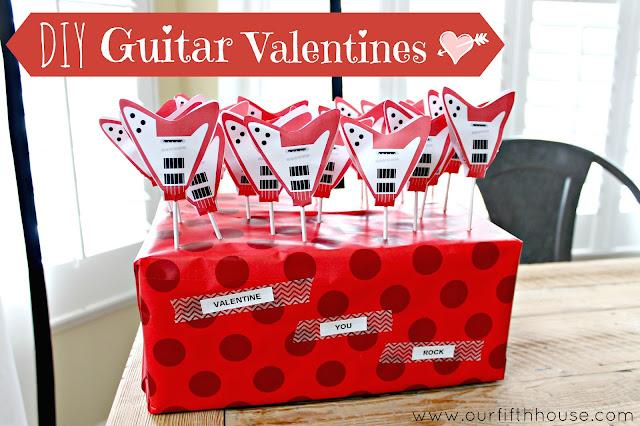 diy guitar valentines