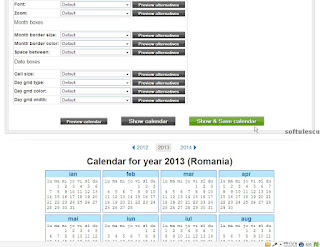 Generator calendar - TimeAndDate.com - salvare calendar