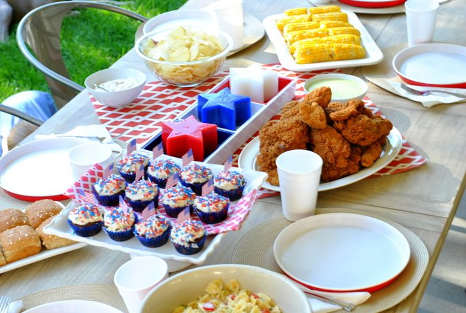 4th of july dinner party
