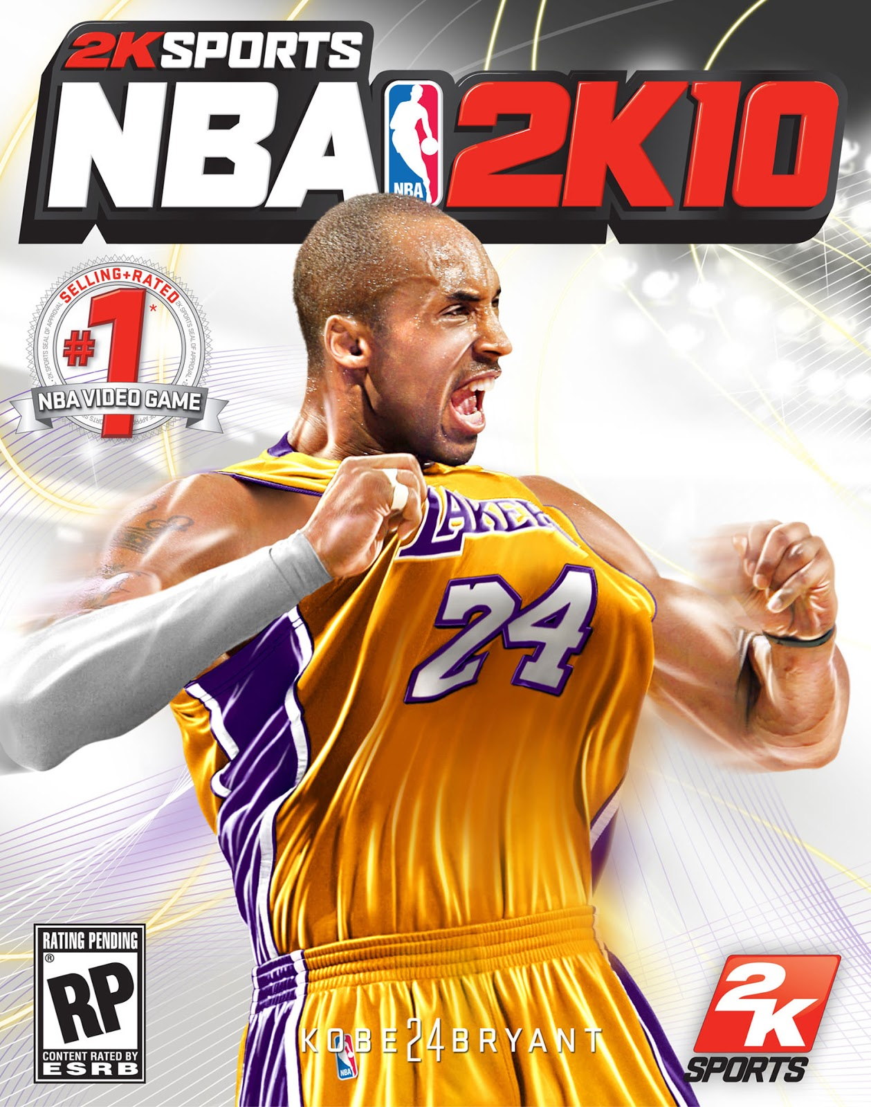 Kobe Bryant NBA 2k10 Cover Athlete