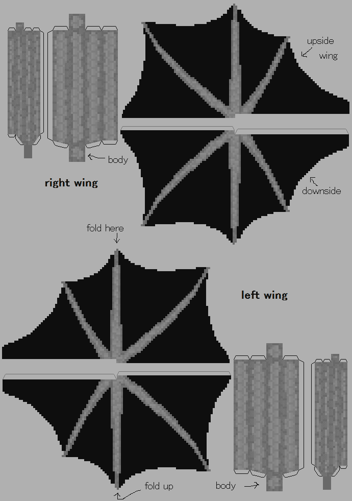 Как из бумаги сделать эндера дракона