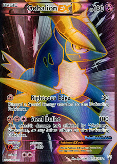 Cobalion EX Full Art Plasma Storm Pokemon Card
