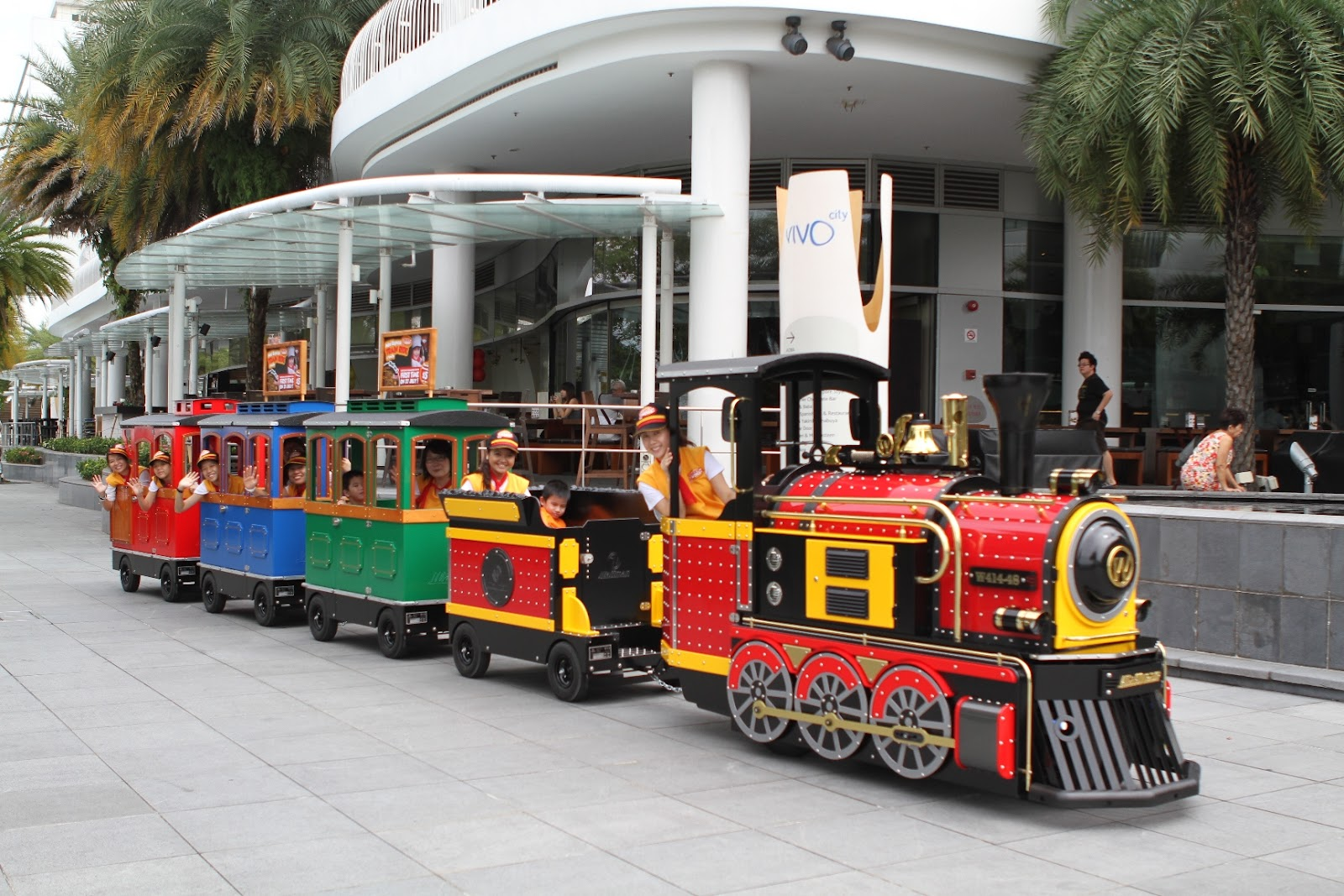 mini express train ride at vivocity welcome to super mommies
