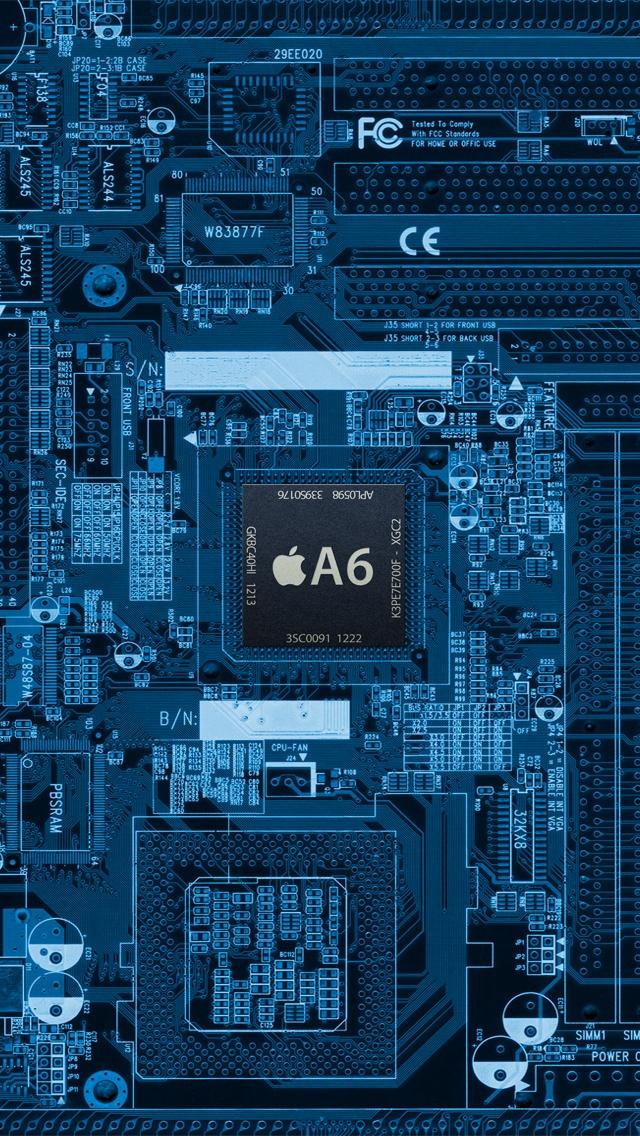 A6 Chip Internal Board IPhone 5 Wallpaper IPod HD Free Download