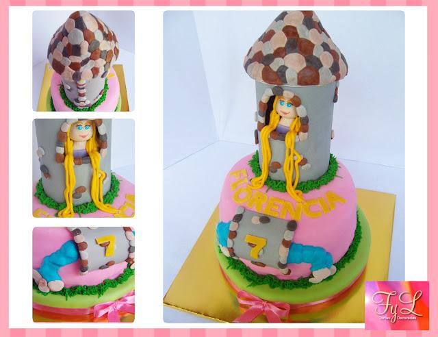 Torta Rapunzel   Nuevo Dise  O