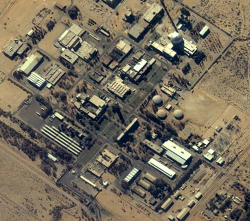 IKONOS Satellite image of Israel's Dimona nuclear facility. Date: 26 January 2002  Coordinates: Long: 35 deg 8' 30'' E Lat: 31 deg N, Resolution 2m
