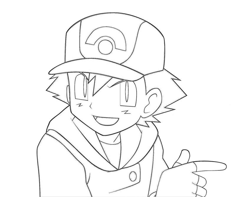 ash ketchum coloring pages - photo#2