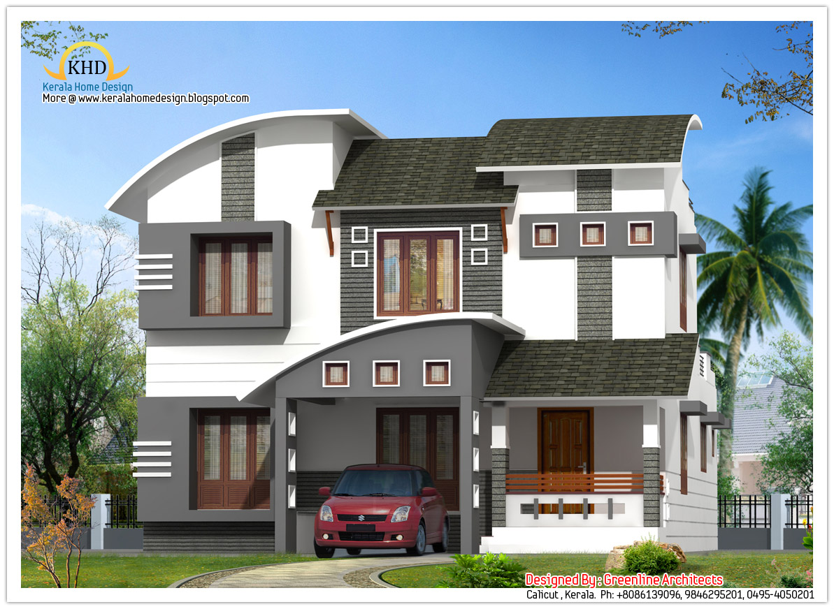 House elevation 2210 sq ft kerala home design and for House elevation photos architecture