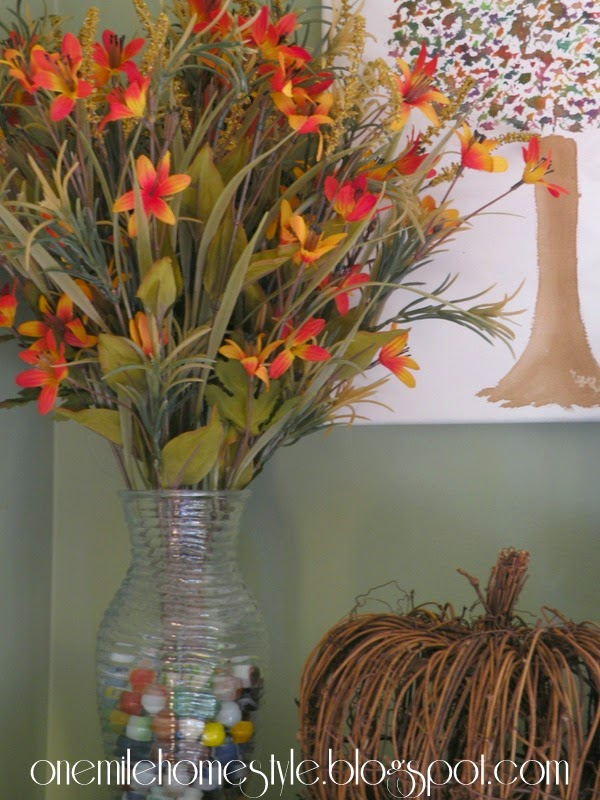 Simple fall decor with watercolor painting