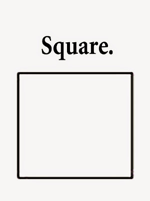 Geometry square printable shapes straightforward sketch for playgroup coloring book pages with words