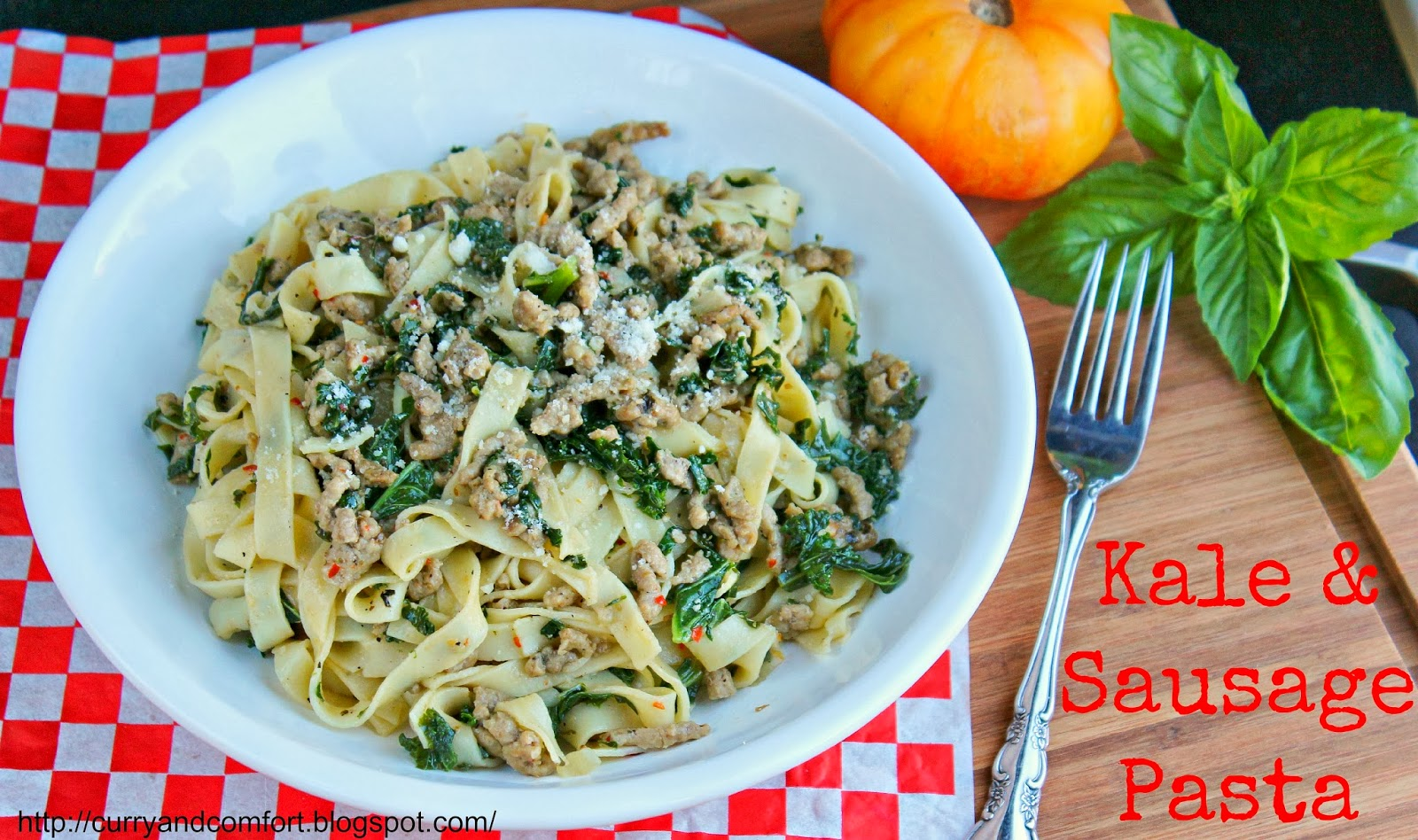 Curry and Comfort: Sausage and Kale Pasta