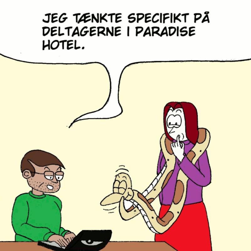 Ahmed: Jeg tænkte specifikt på deltagerne i Paradise Hotel.