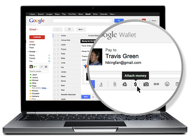 Google Wallet: ��� ��������� ������ � Gmail?