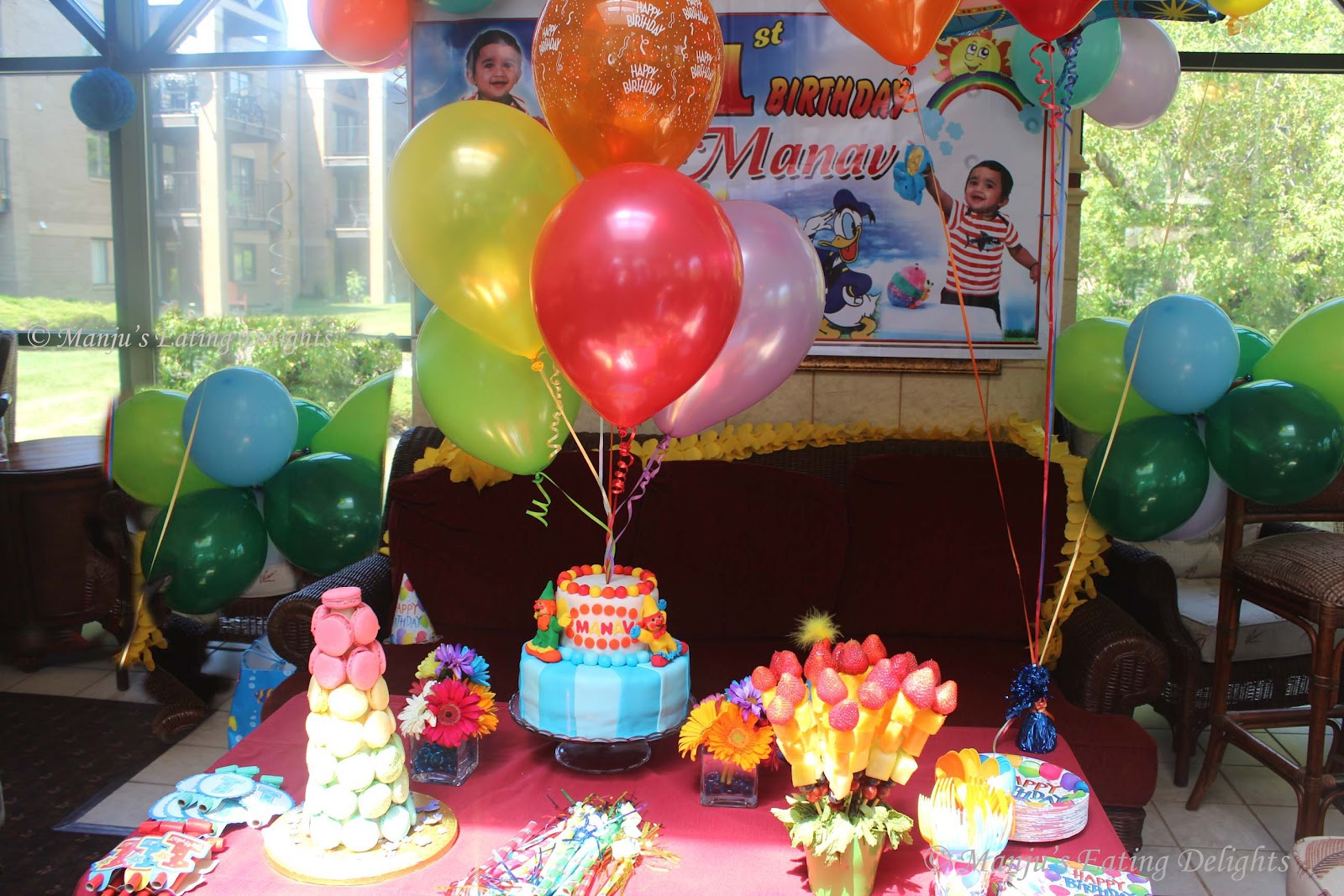 Manjus Eating Delights A Rainbow Birthday PartyManav Turns 1
