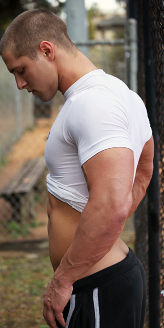 Sexy Jock in Underarmour Compression Shirt