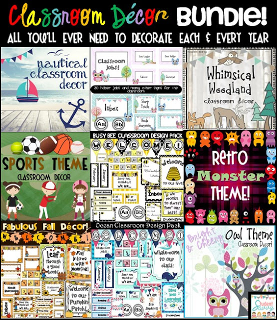 Classroom Decor Bundles ~ Studentsavvy followers big sale giveaways more