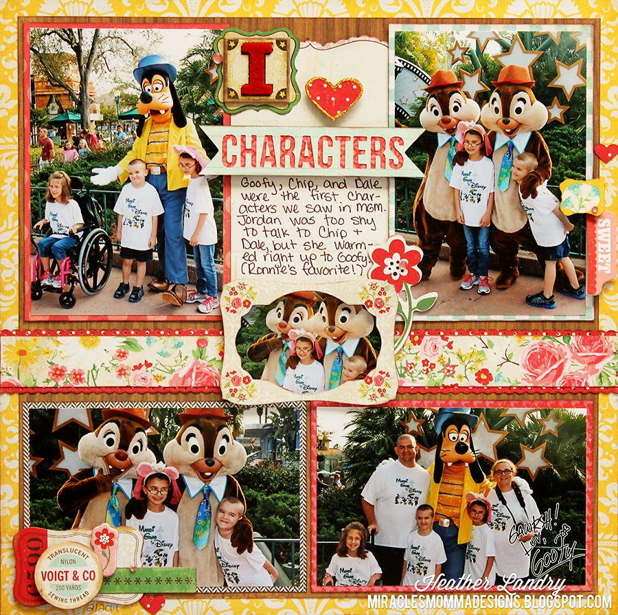 Disney_Characters_Goofy_Scrapbook Layout
