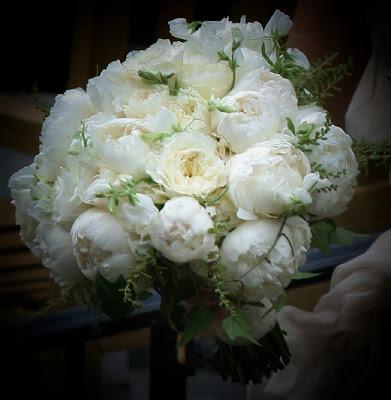 White Peony Bridal Bouqet - Splendid Stems Floral Designs