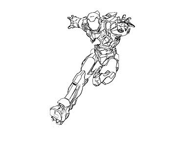 #5 Iron Man Coloring Page