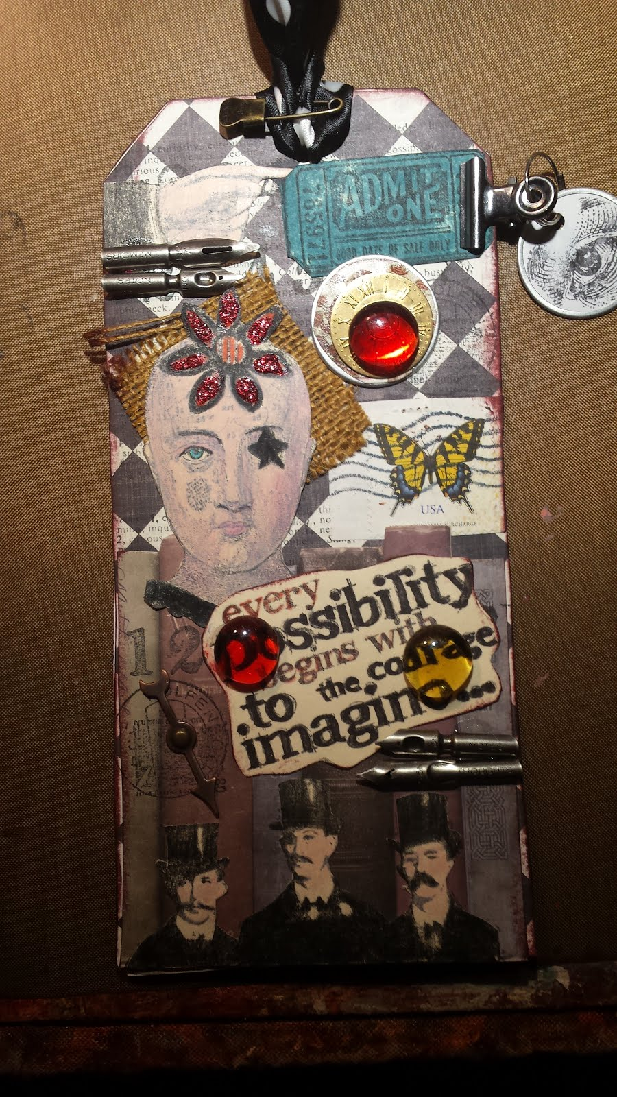 a steampunk tag