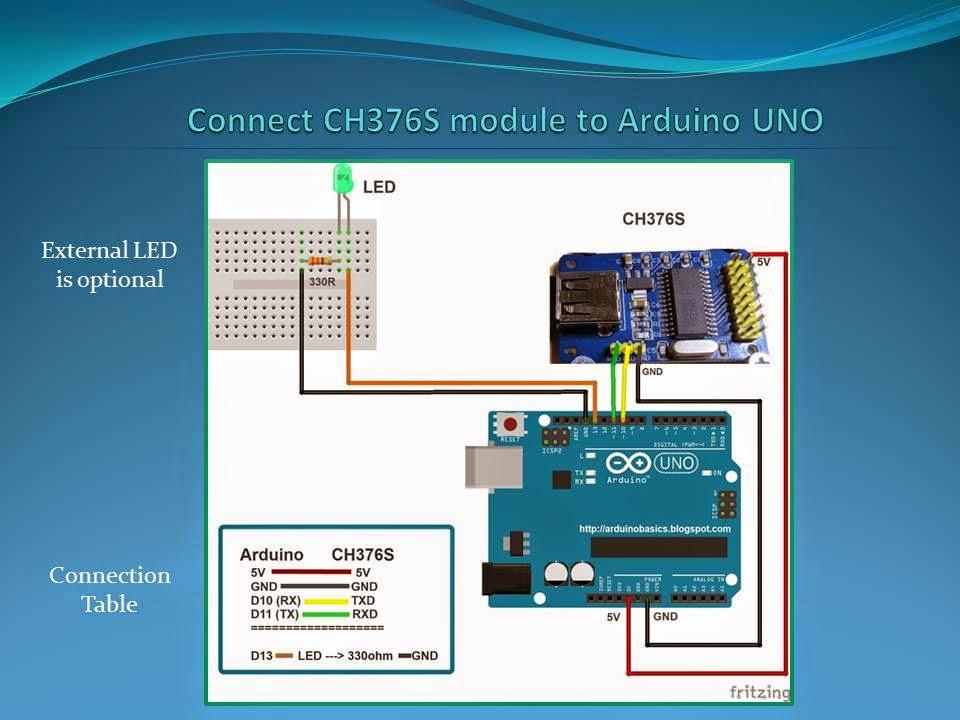 arduino basics  ch376s usb read  write module