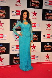 Actress Mallika Sherawat Pictures in Long Dress at BIG STAR Entertainment Awards 2014 2