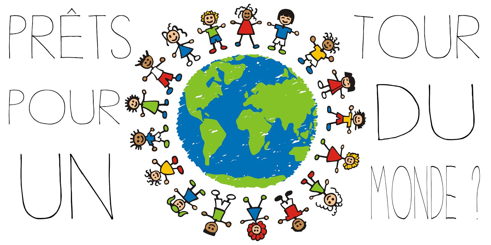 Invitation pour un voyage autour du monde rpi du haut for Decoration voyage autour du monde