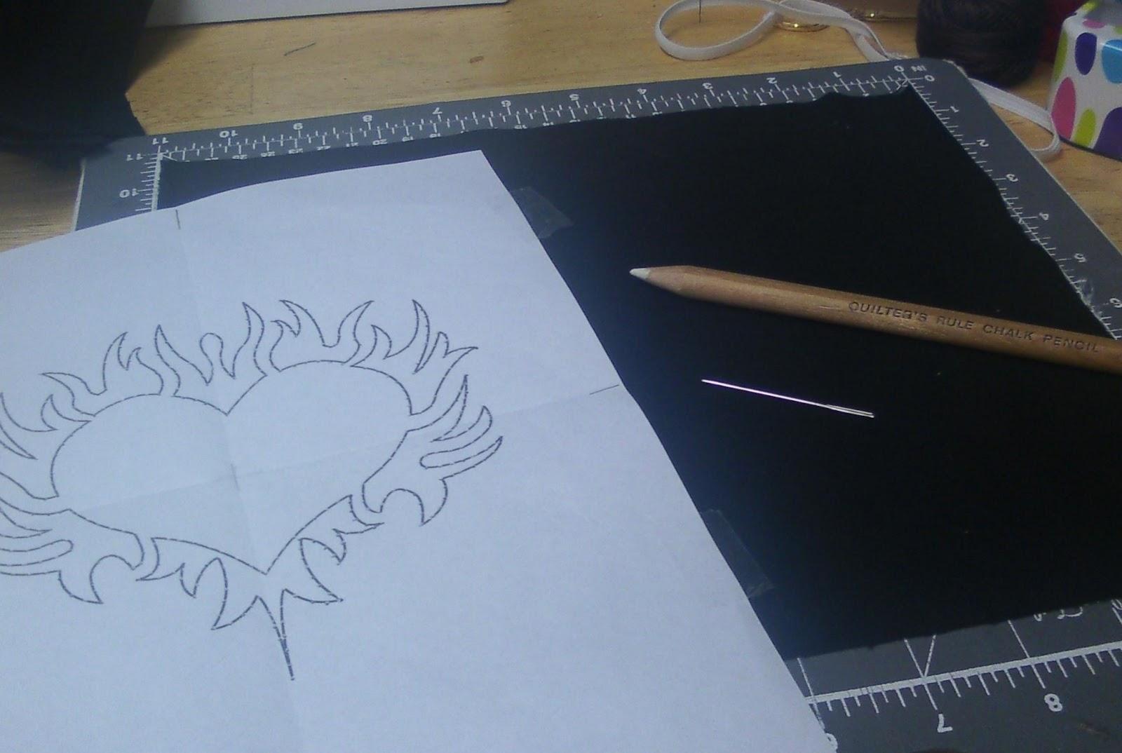 Shawkl Transfering A Design To Dark Fabrics Tutorial