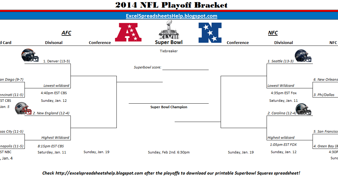 excel spreadsheets help  printable 2014 nfl playoff bracket