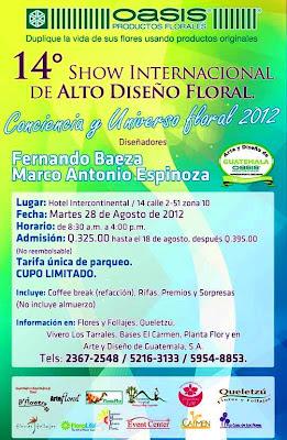 14° Show Internacional de Alto Diseño Floral 2012  OASIS