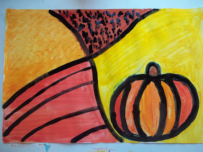 kids pumpkin painting