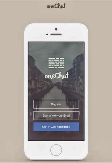 Les Ressources Web du Lundi by Iscomigoo Webdesign: OneChat, mockup mobile application