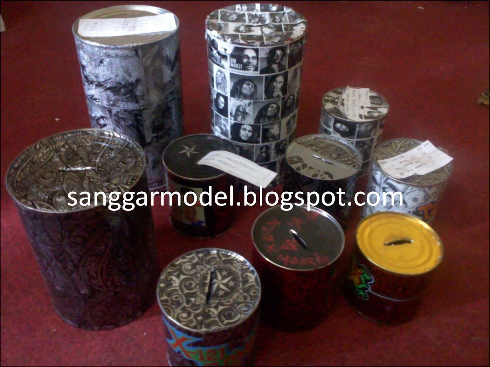 Membuat Celengan dari Kaleng Bekas ~ Sanggar Model