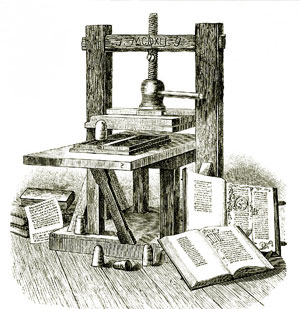 Gutenberg printing press on BIM