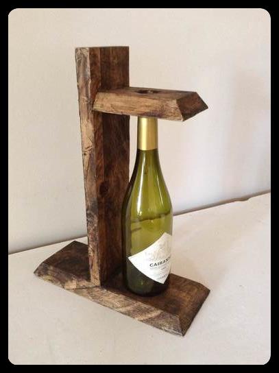 L 39 atelier de la recup 39 porte bouteille - Porte bouteille palette ...