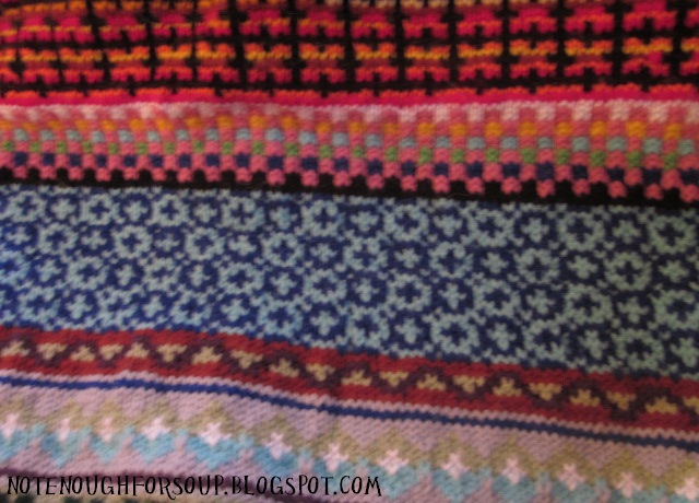 Not Enough For Soup: Big Crazy Fair Isle Blanket Part 4