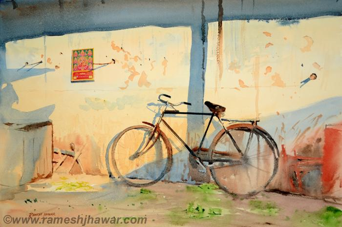Ramesh jhawar bicycle at the market for Bicycle painting near me