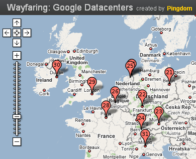 google datacenter map