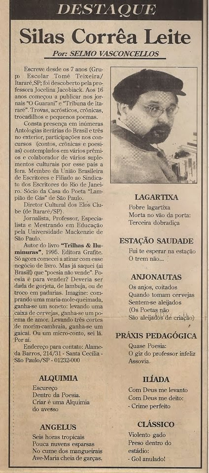 Poemas de Silas Correa Leite
