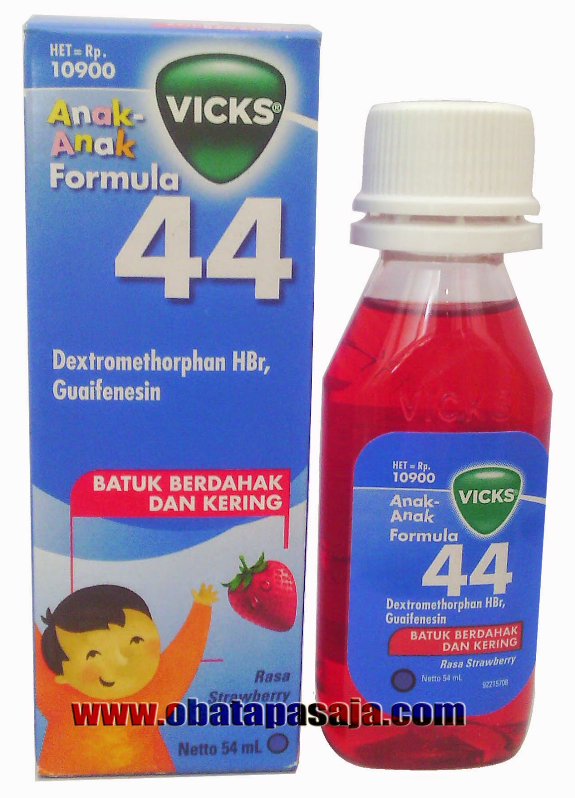 Dosis dan Komposisi Vicks Formula 44  Anak-Anak